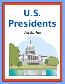 United States Presidents Activity Fun