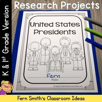 Presidents' Day - United States Presidents Book for Kindergarten and 1st Grade