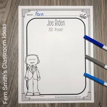 Presidents Day - United States Presidents Book for Kindergarten and 1st Grade
