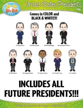 United States Presidents Clipart Mega Bundle {Zip-A-Dee-Doo-Dah Designs}