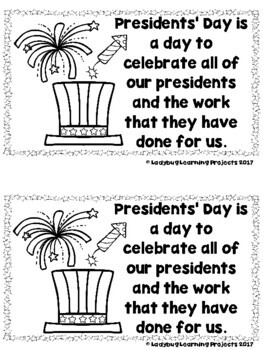 United States Presidents' Day  (Sight Word Emergent Reader and Teacher Lap Book)