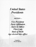 United States Presidents Easy Reference Guide