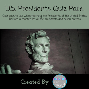United States Presidents Quiz Pack