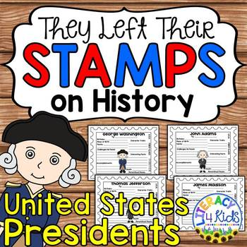 United States Presidents Research Project Templates for Grades 3-5