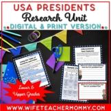 U.S. Presidents Research Unit Bundle PRINTABLE & GOOGLE SL