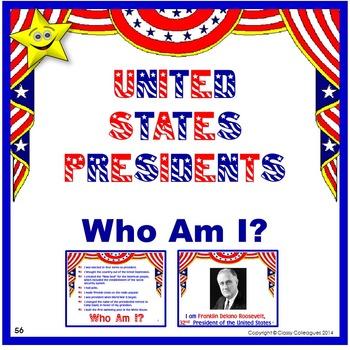 United States Presidents - Who Am I?