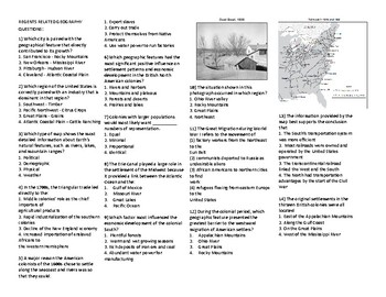 United States Regents Geography Map Review