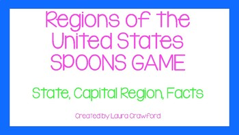 United States Region Spoons game