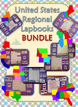 United States Regional Lapbooks BUNDLE