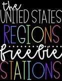 United States Regions Activity Stations   FREEBIE!