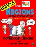 United States Regions Bundle-PowerPoints and Student Printables