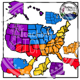 United States Regions Clipart