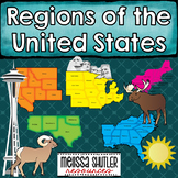 United States Regions Informational Booklets and Map Work