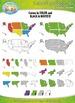 United States Regions Map Clipart {Zip-A-Dee-Doo-Dah Designs}