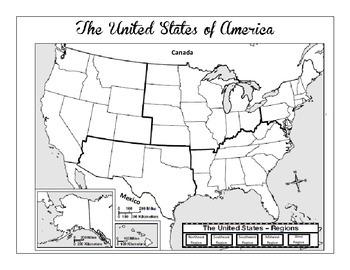 Us Regions Map Worksheet United States Regions Map Skills Worksheet and Comprehension Worksheet