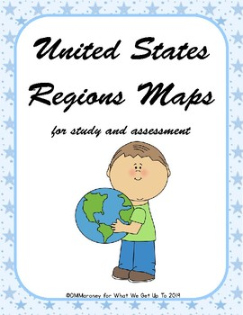 United States Regions Maps for Study and Assessment