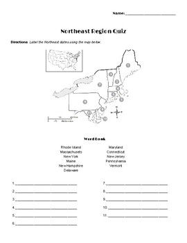 United States Regions Quizzes - Various Levels