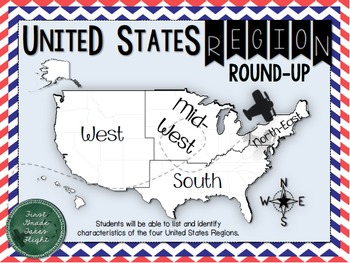 United States Regions Round Up Graphic Organizers {Differentiated - Geography}
