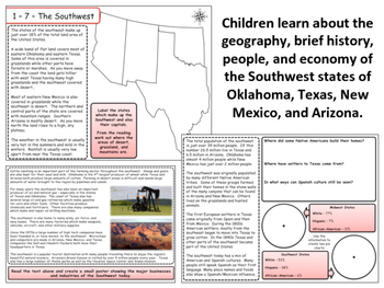 United States Regions - The Southwest