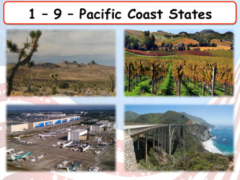 United States Regions - The Pacific Coast States