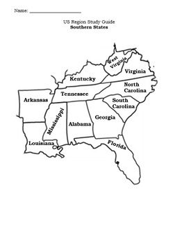 United States Regions Study Guides