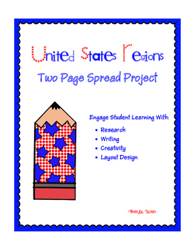 United States Regions Two Page Spread Project