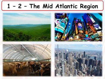 United States Regions - The Mid-Atlantic States