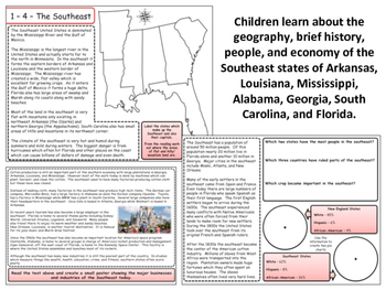 United States Regions - Section 4 - The Southeast States