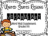 United States Regions Vocabulary Word Wall