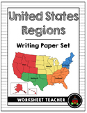 United States Regions Writing Paper Set