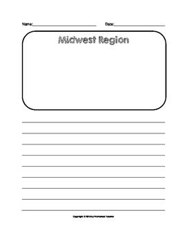 United States Regions Writing Paper Set