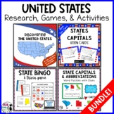 United States Research: 50 State Bundle (with free bonus activity!)