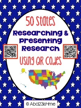 United States Research- 50 States {Researching and Presenting} with QR CODES