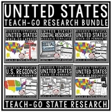 50 United States Research Bundle Regions of The United States 50 States Research