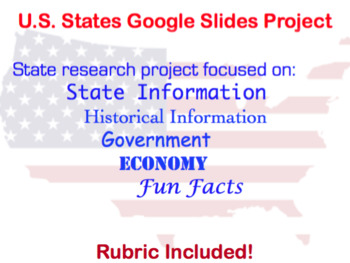 United States Research Project (Google Slides or PowerPoint)