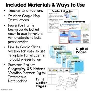 United States Road Trip Travel Adventure Digital Interactive, Print, Google