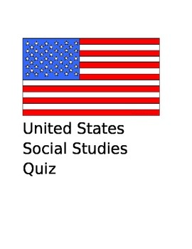 United States Social Studies Quiz