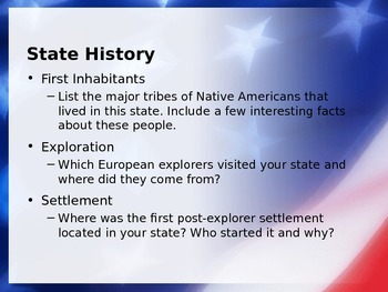 United States State Report PowerPoint Template