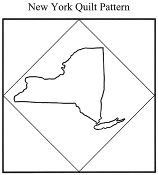 United States Maps - State and Region Quilt Patterns