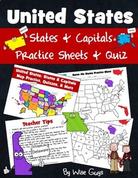 United States and Capitals Bundle of Activities