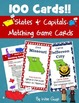 United States States and Capitals Bundle of Activities