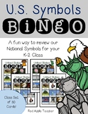 United States Symbols Bingo for Your K-2 Class