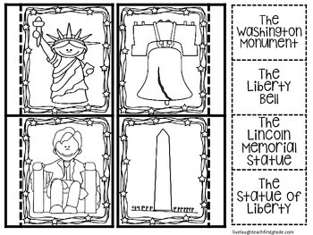 United State's Symbols- Interactive Notebook and Activities