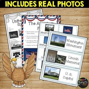 United States Symbols Mega Unit {Posters, Books, Activities, Worksheets}