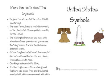 United States Symbols Mini Book