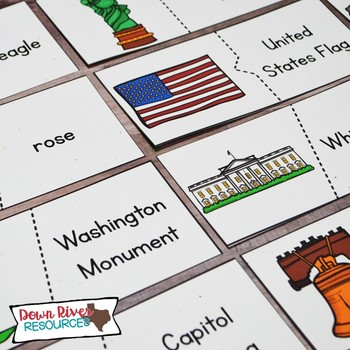 United States Symbols Puzzles |Matching Puzzles for Patriotic & Selected Symbols