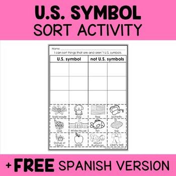 Interactive Sorting - US Symbols Activity
