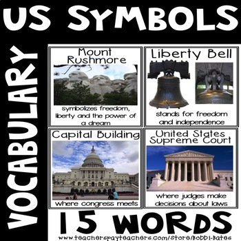 United States  Symbols Vocabulary Posters