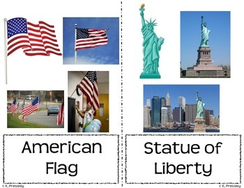 United States Symbols Vocbulary Cards
