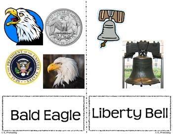 United States Symbols Vocbulary Cards